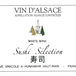 A Hunawihr Sushi Selection label