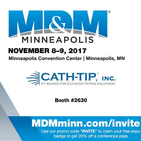 catheter tipping at MD&M Minneapolis #2449