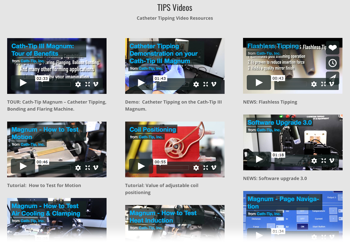 catheter tipping video tutorials library