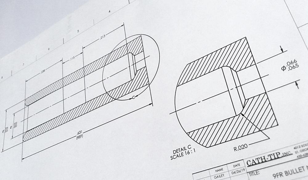 rapid process development catheter machines CAD drawings