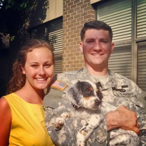 Morgan & James with Zooey, our first Pup to go to the 82nd Airborne!