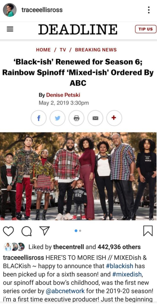 Black-ish' Renewed for Season 6; Rainbow Spinoff 'Mixed-ish' In the Works