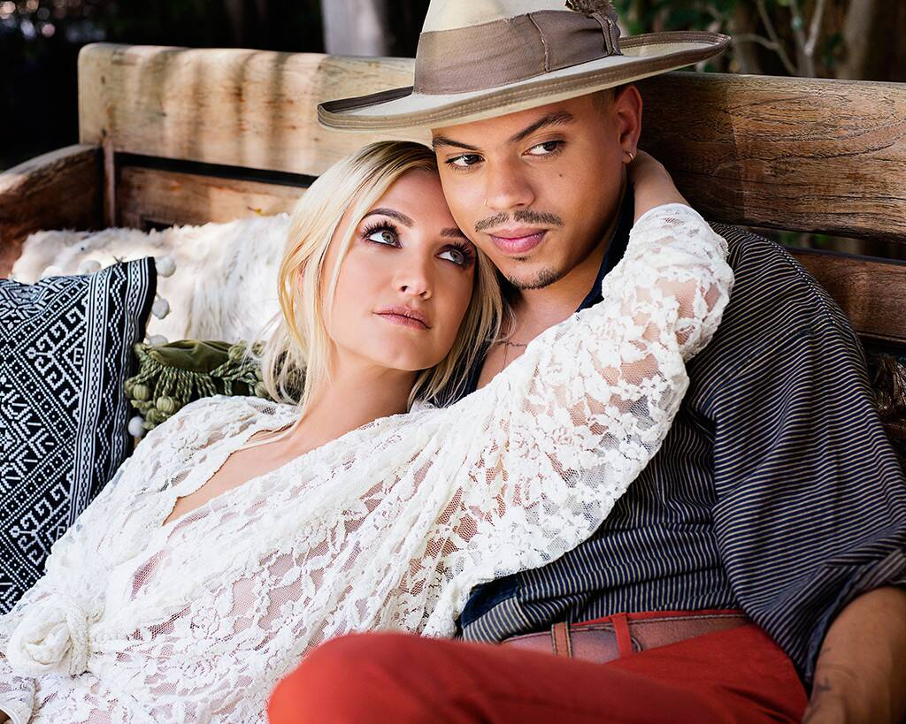 Ashlee and Evan Ross