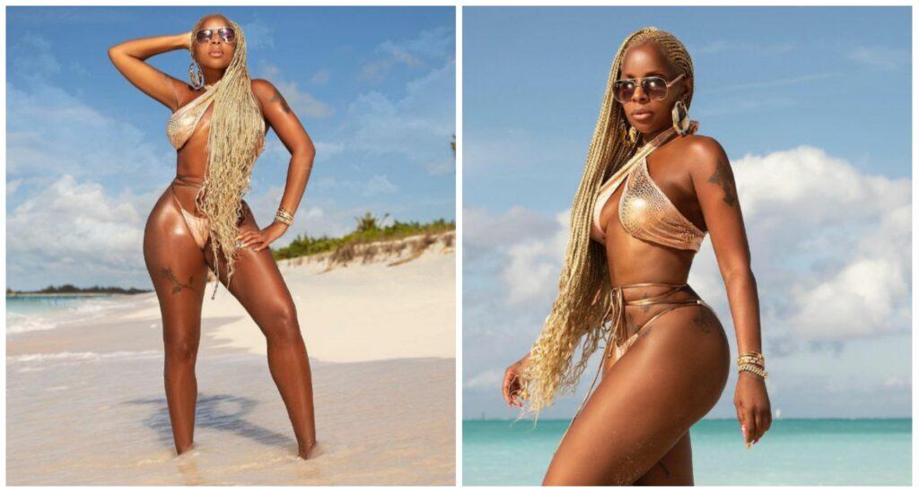 Mary J. Blige Turks and Caicos Beach Vacation