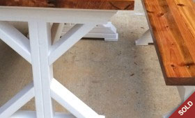 Trestle Farm Table and Bench