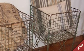 Vintage Metal Produce Baskets