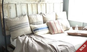 Repurposed Headboard & Bedframe