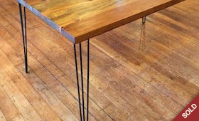 Reclaimed Wood and Hairpin Leg Table