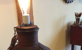 Repurposed Oil Can Light