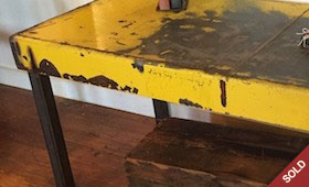 Industrial Yellow Steel Coffee Table