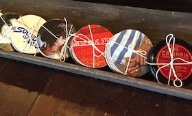 Upcycled Record/Album Cover Coasters