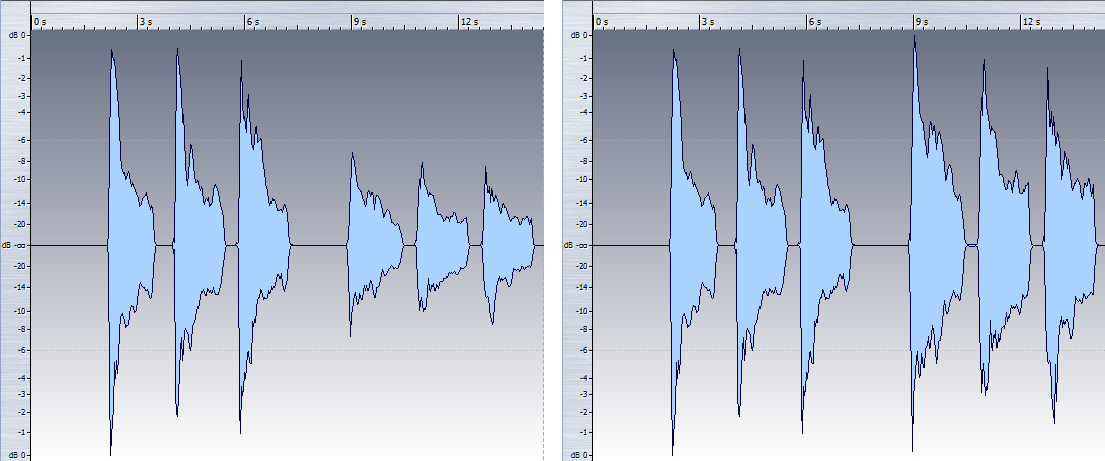 These images show the tradeoff of output vs. sustain with respect to a pickup's distance from the strings.