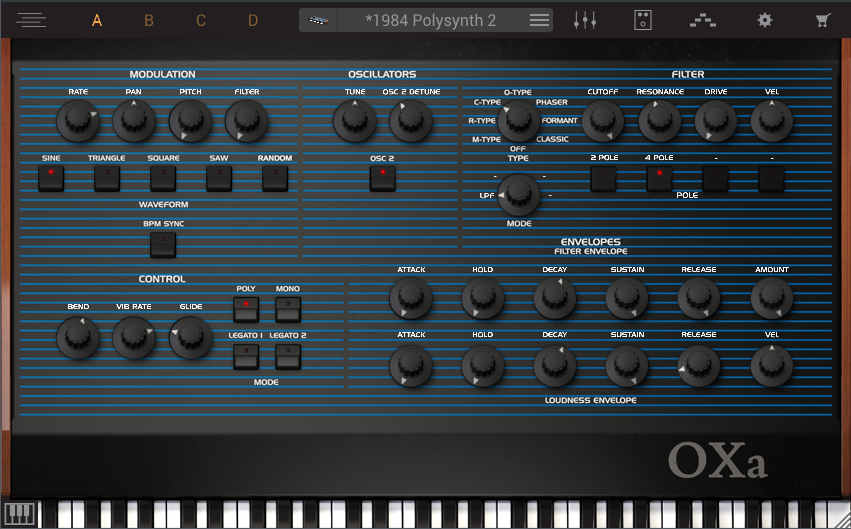 Each synth interface in Syntronik allows for custom preset programming, although the sounds are sample-based.
