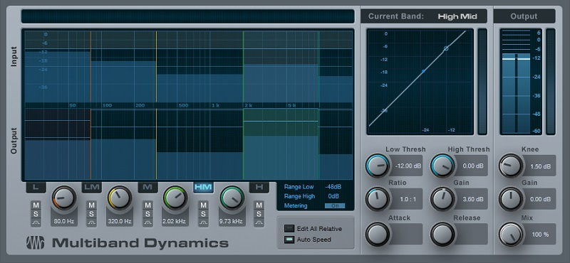 A multiband compressor can serve as a high-quality graphic equalizer.