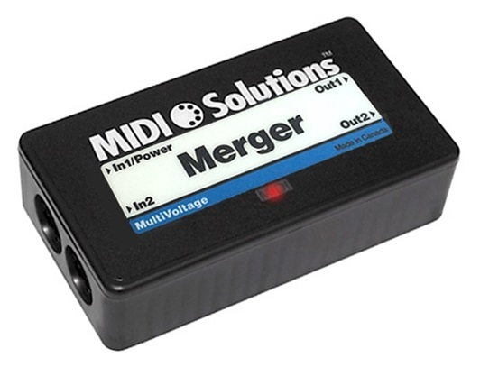 MIDI Solutions' Merger allows combining two smaller keyboards to cover a wider range.