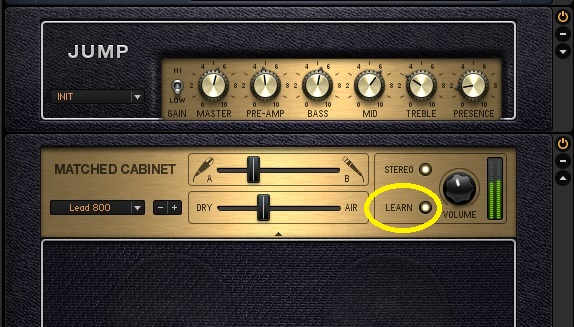 Guitar Rig has a Learn button; if you click on it and play, the program will set an optimum level automatically.
