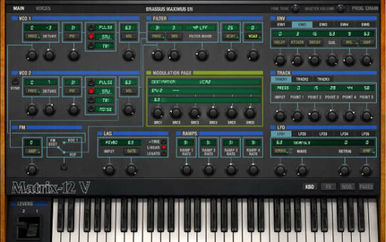 Arturia Matrix-12 V Virtual Instrument