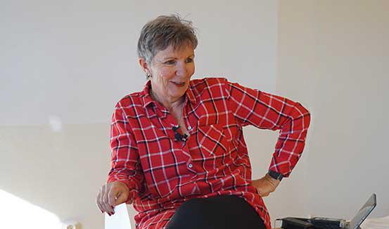 Debra Laughlin speaking
