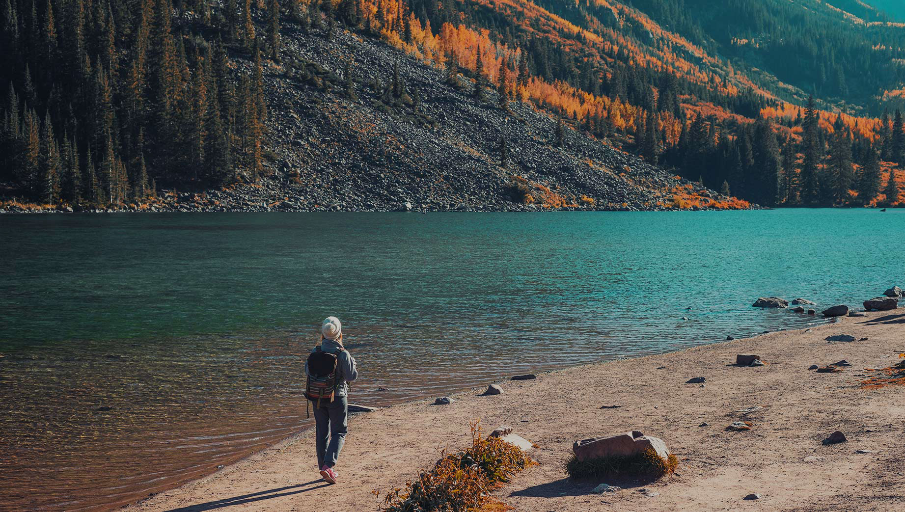 woman in nature on a personal journey