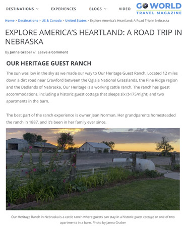 Our Heritage Guest Ranch on Go World