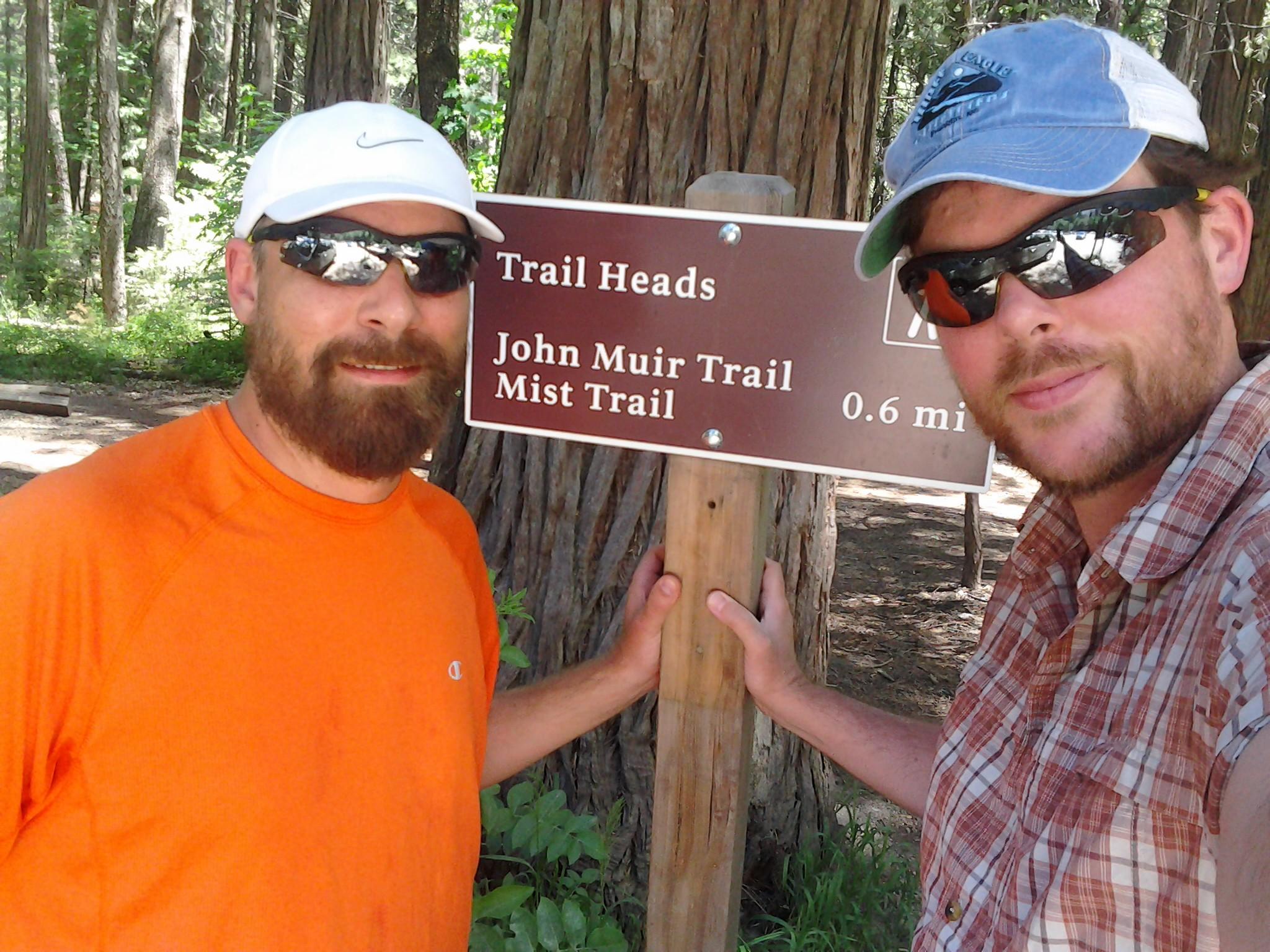 Nick and Jake - JMT start
