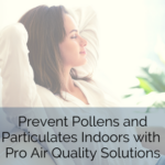 Prevent Pollens and Particulates Indoors with Pro Air Quality Solutions