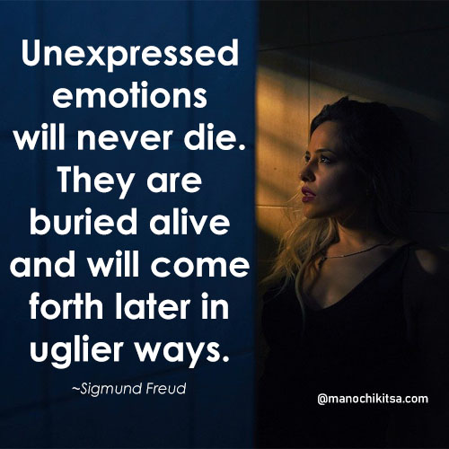 sigmund freud quotes on Unexpressed emotions