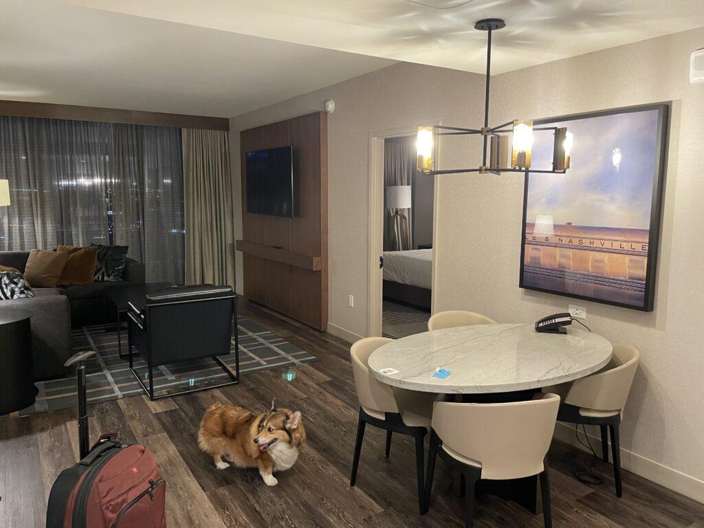 Grand Hyatt Nashville Executive Suite Living Room
