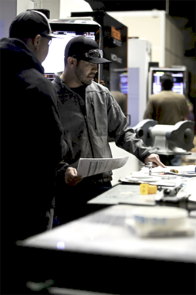 Cencal CNC employee working with low & high carbon steels in the Central Valley