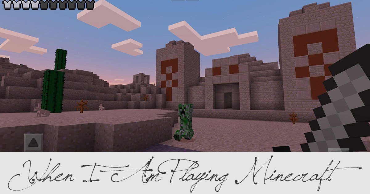 When I Am Playing Minecraft