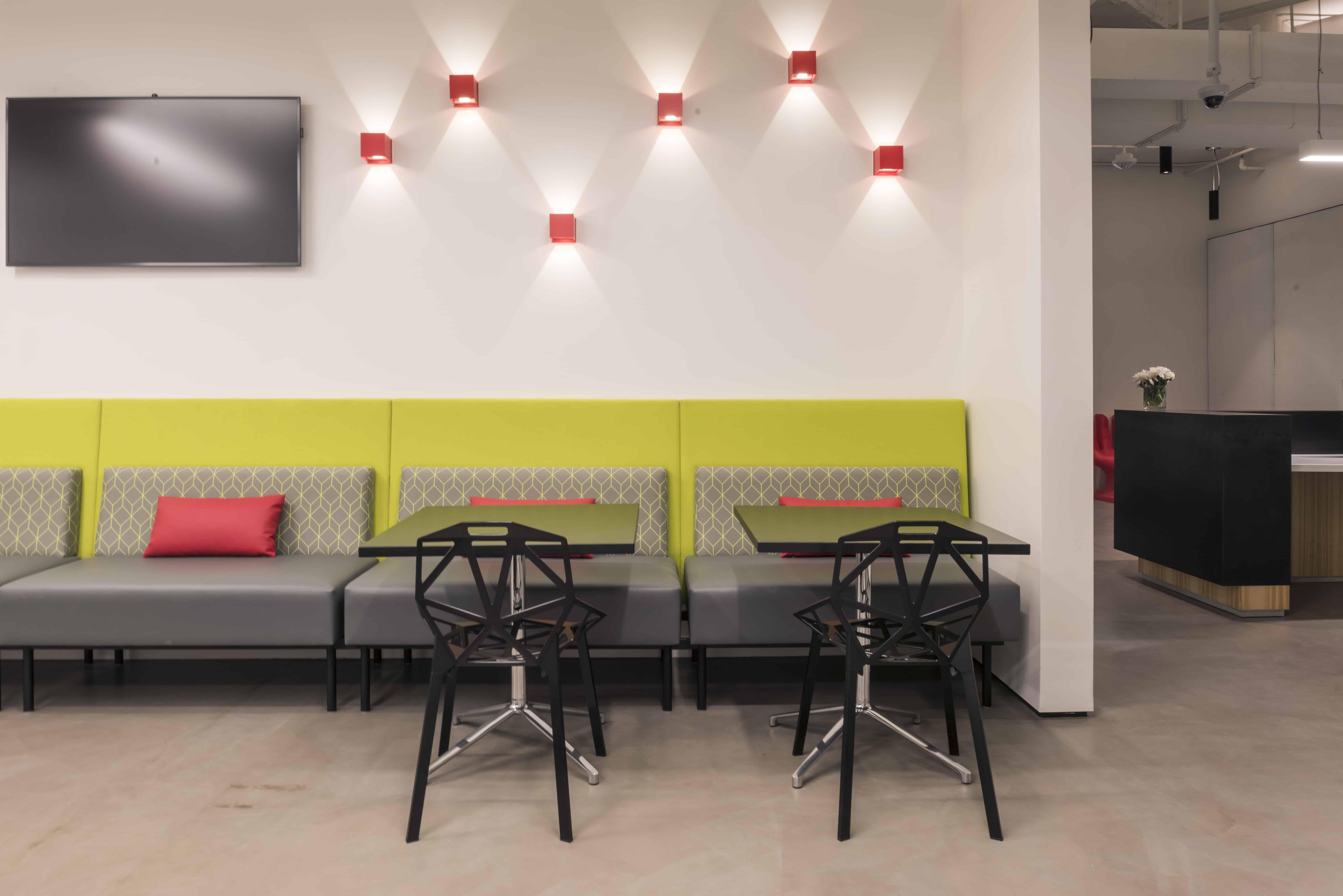 Austin Tech Office Custom Banquette at tech office