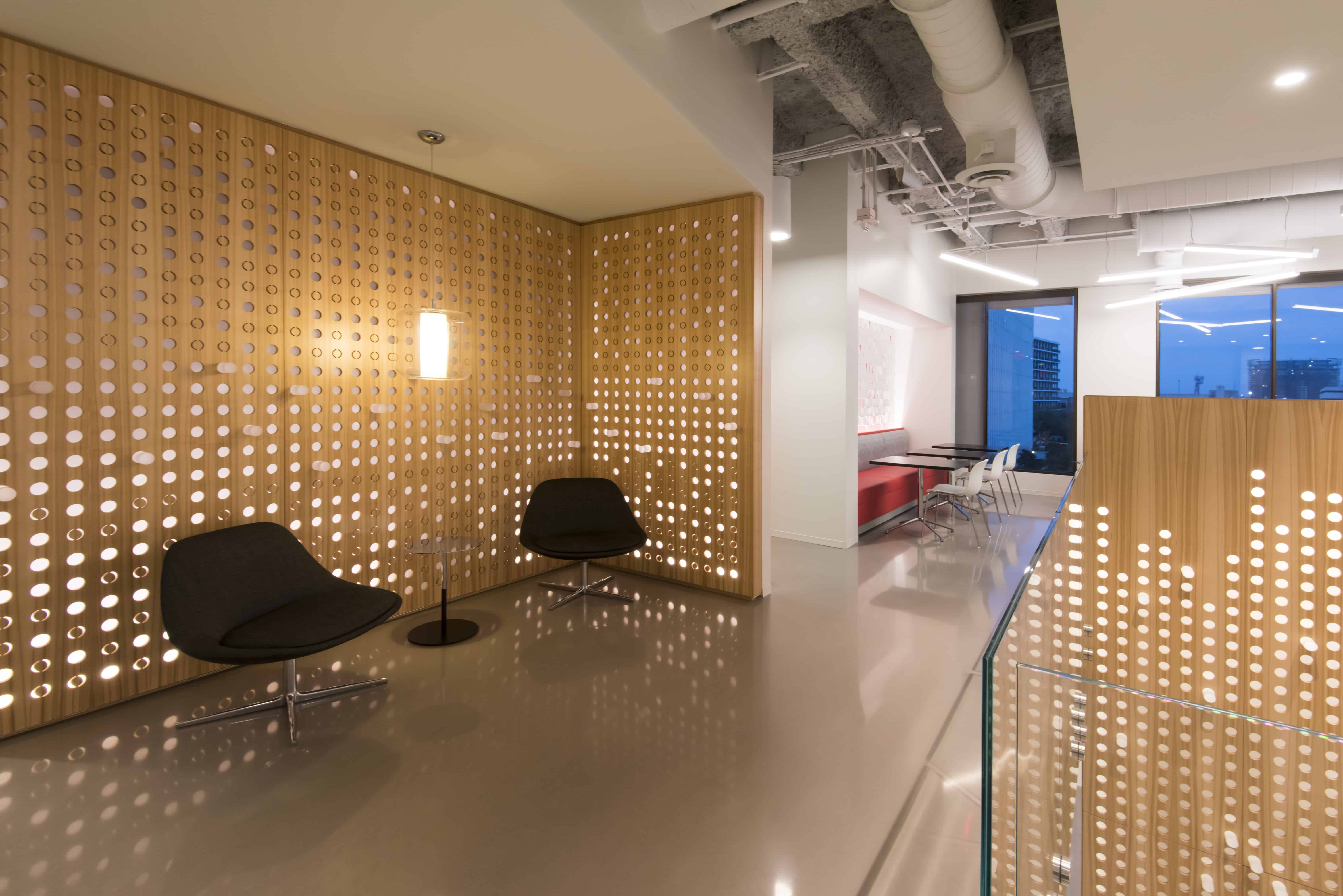 modern office collaboration space