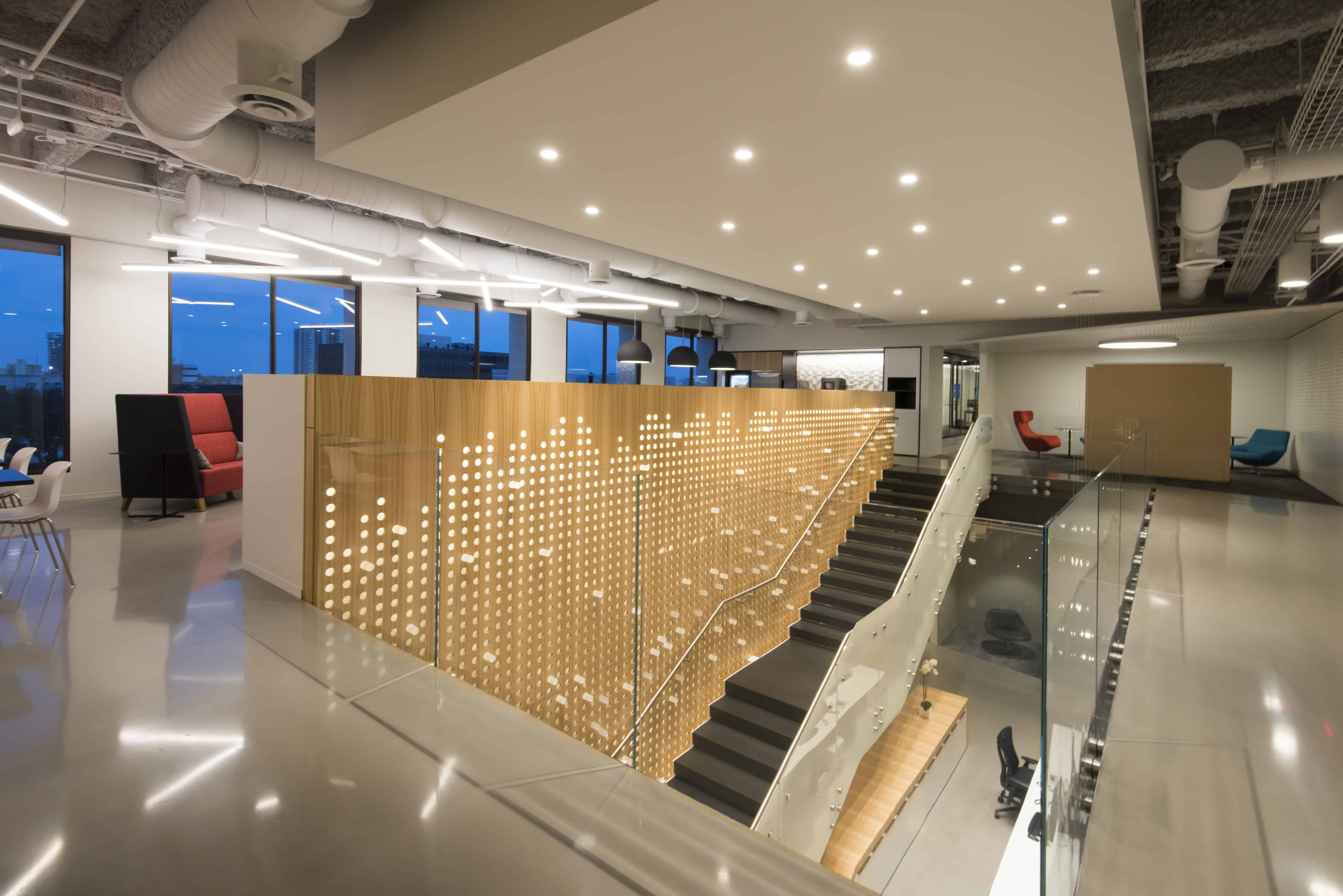 modern office stair