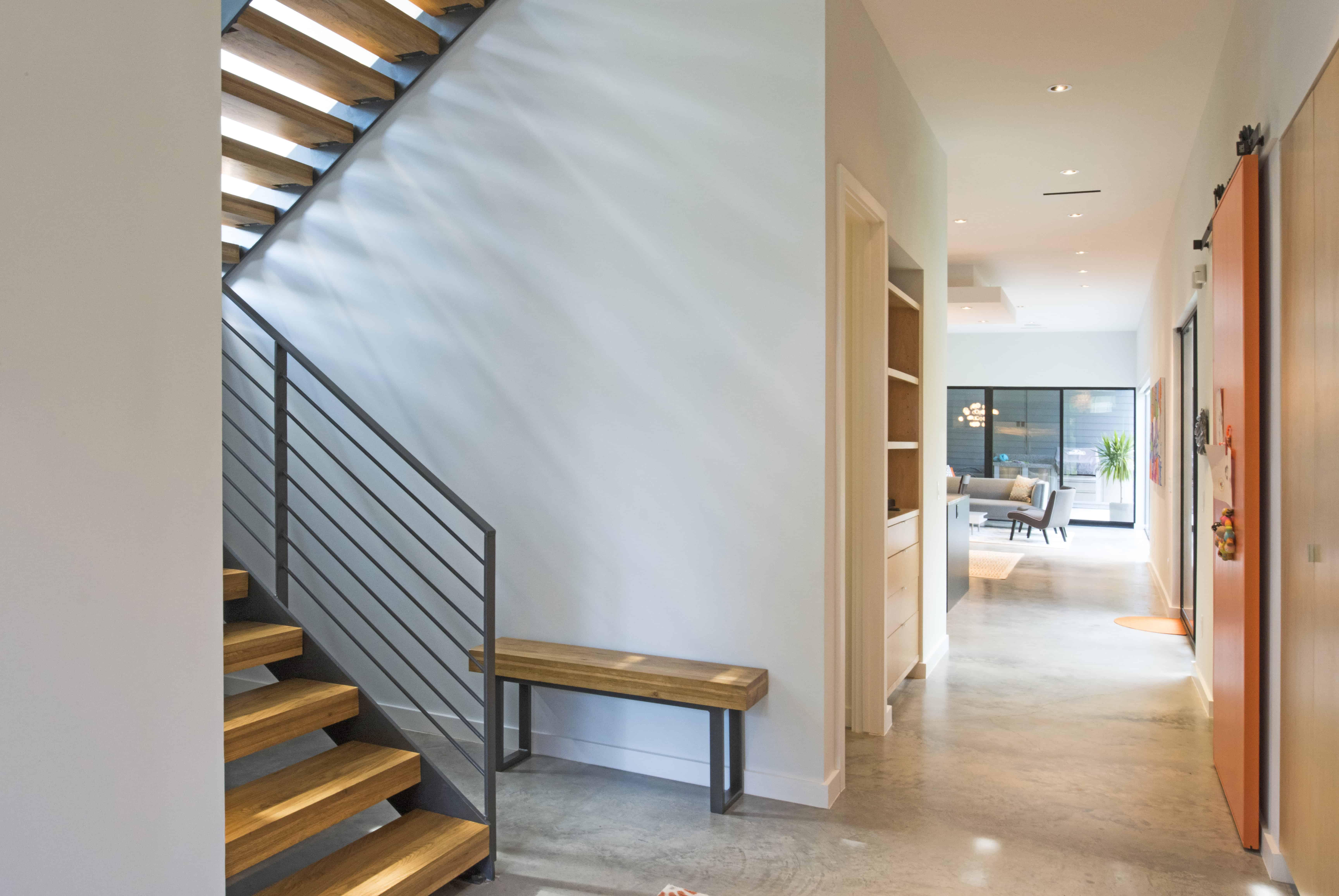Garden Oaks Modern stair