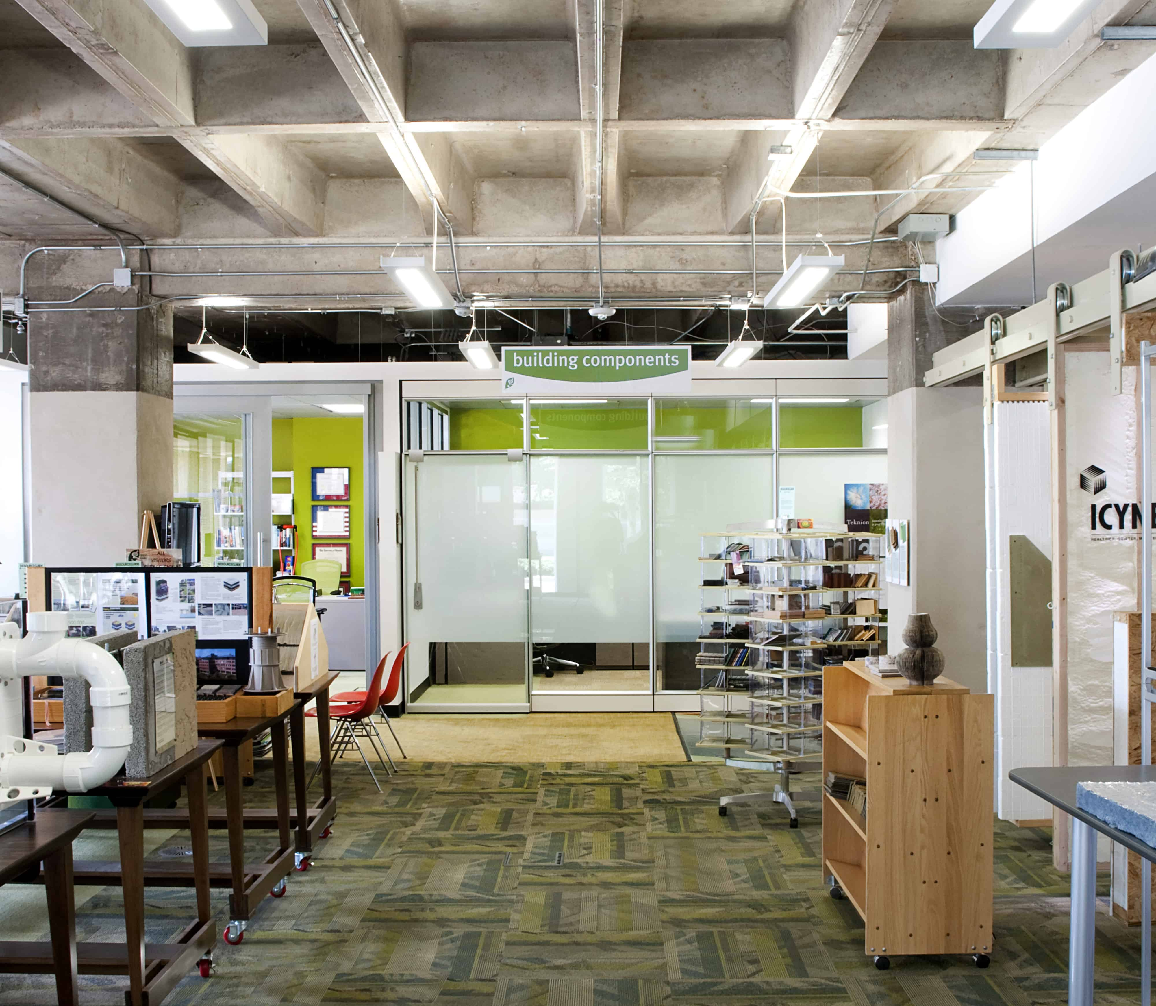 Green building resource center leed gold commerical interior