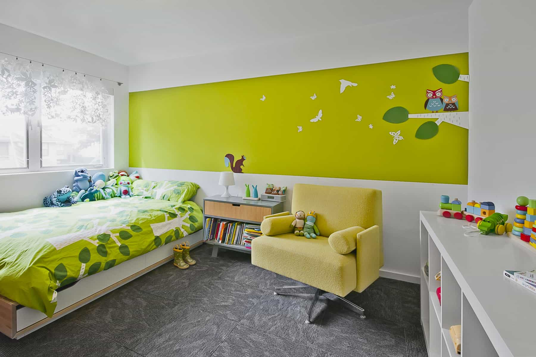 a modern children's room at the live work studio