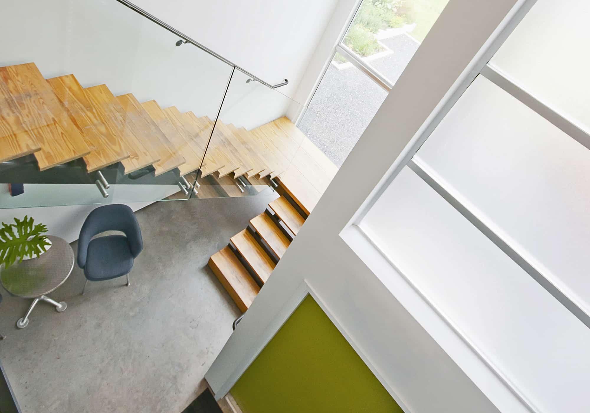 open stair in live work studio