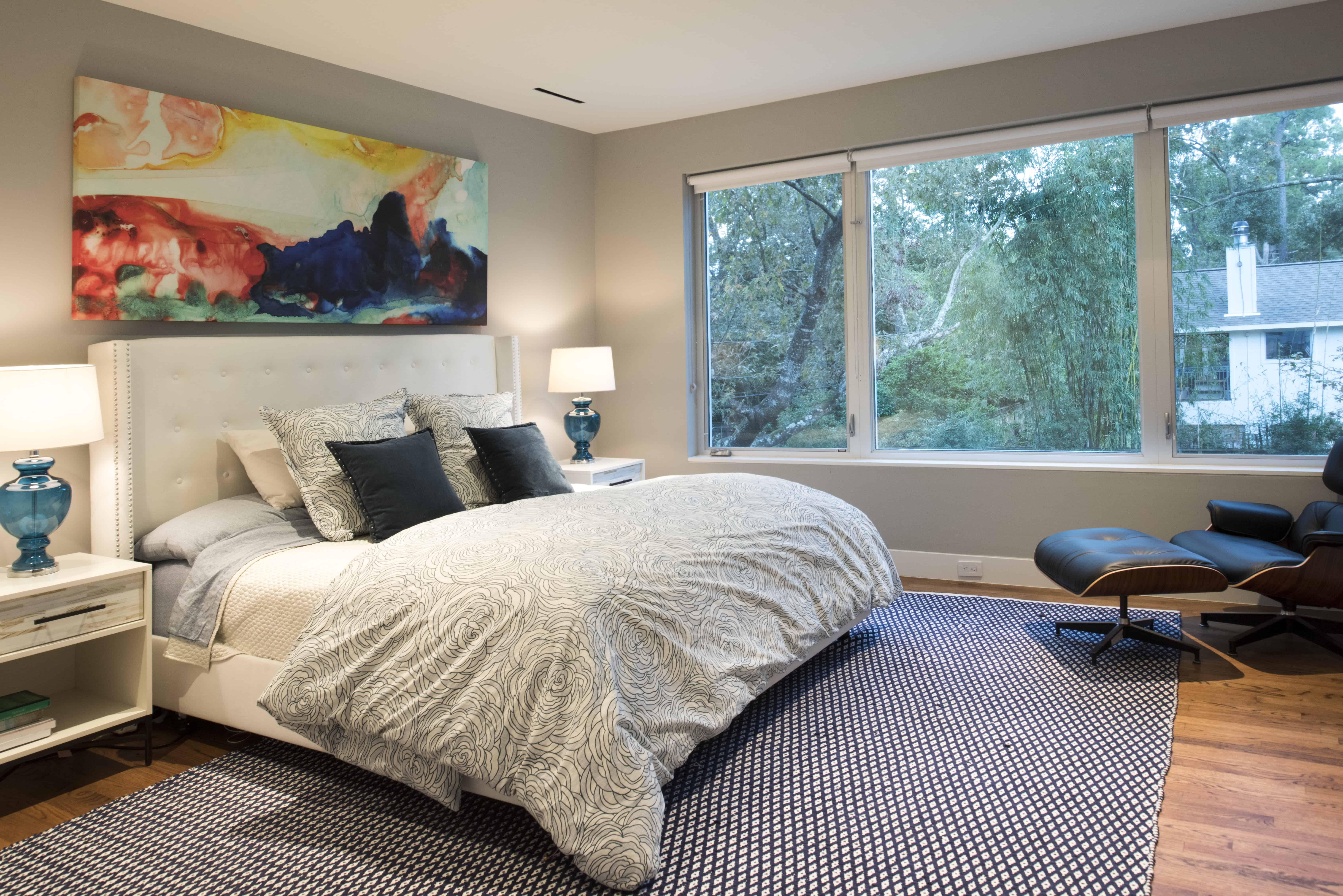 Hunters Creek Memorial Modern Custom Home baster bedroom