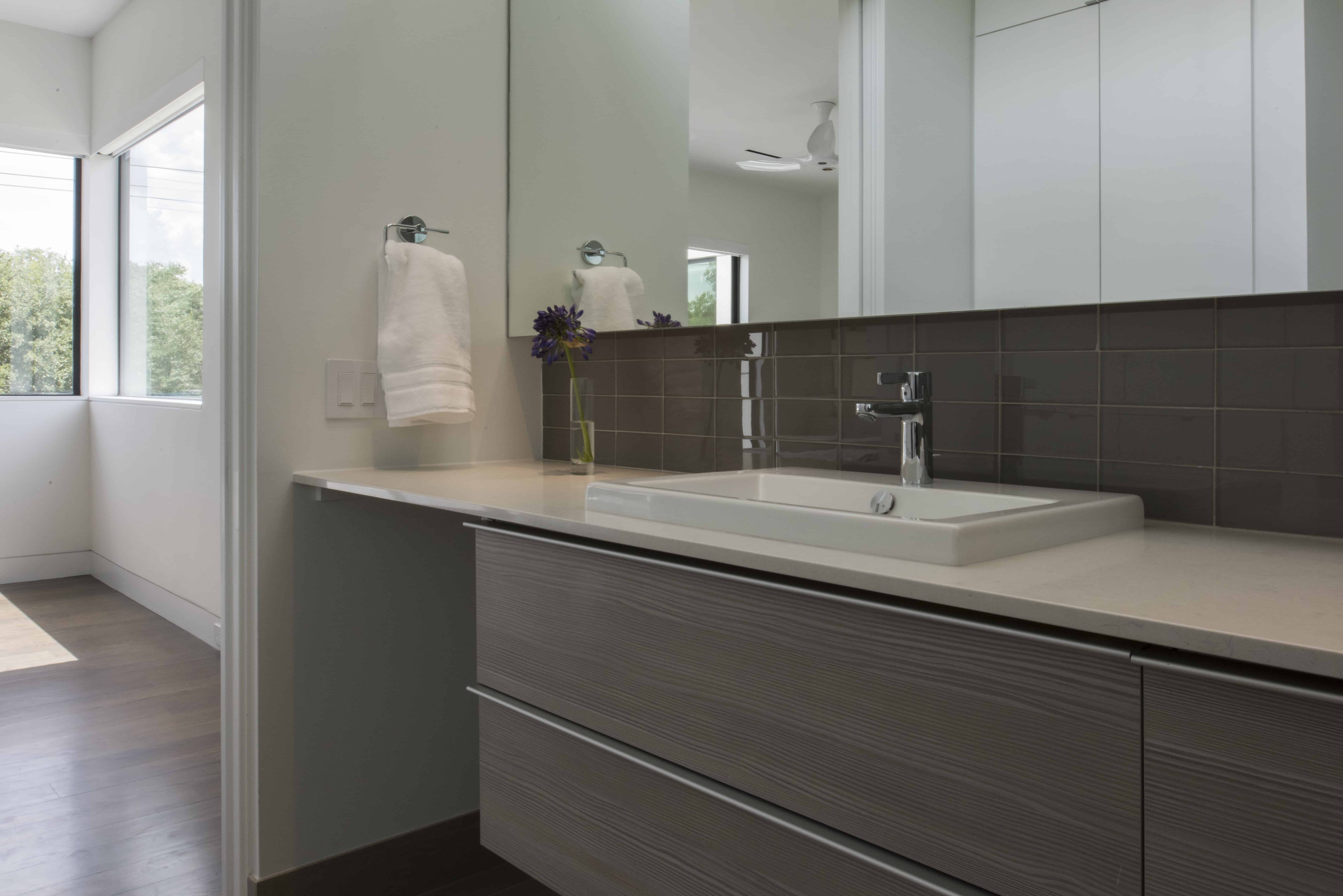 Empty Nester Modern Home Bath with Lock and Leave and Aging in Place Features