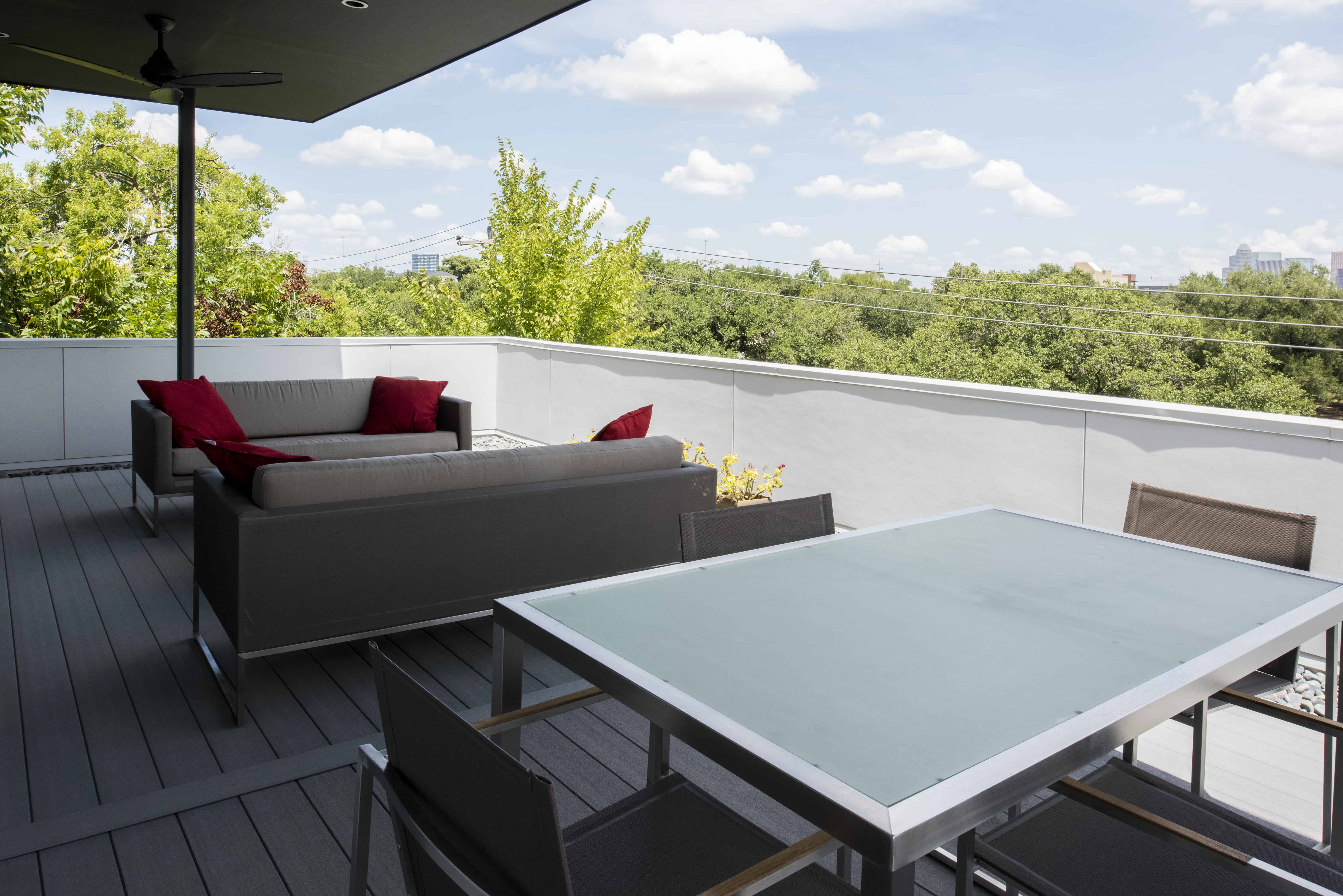 Empty Nester Modern Home with Lock and Leave and Aging in Place Features and downtown view.