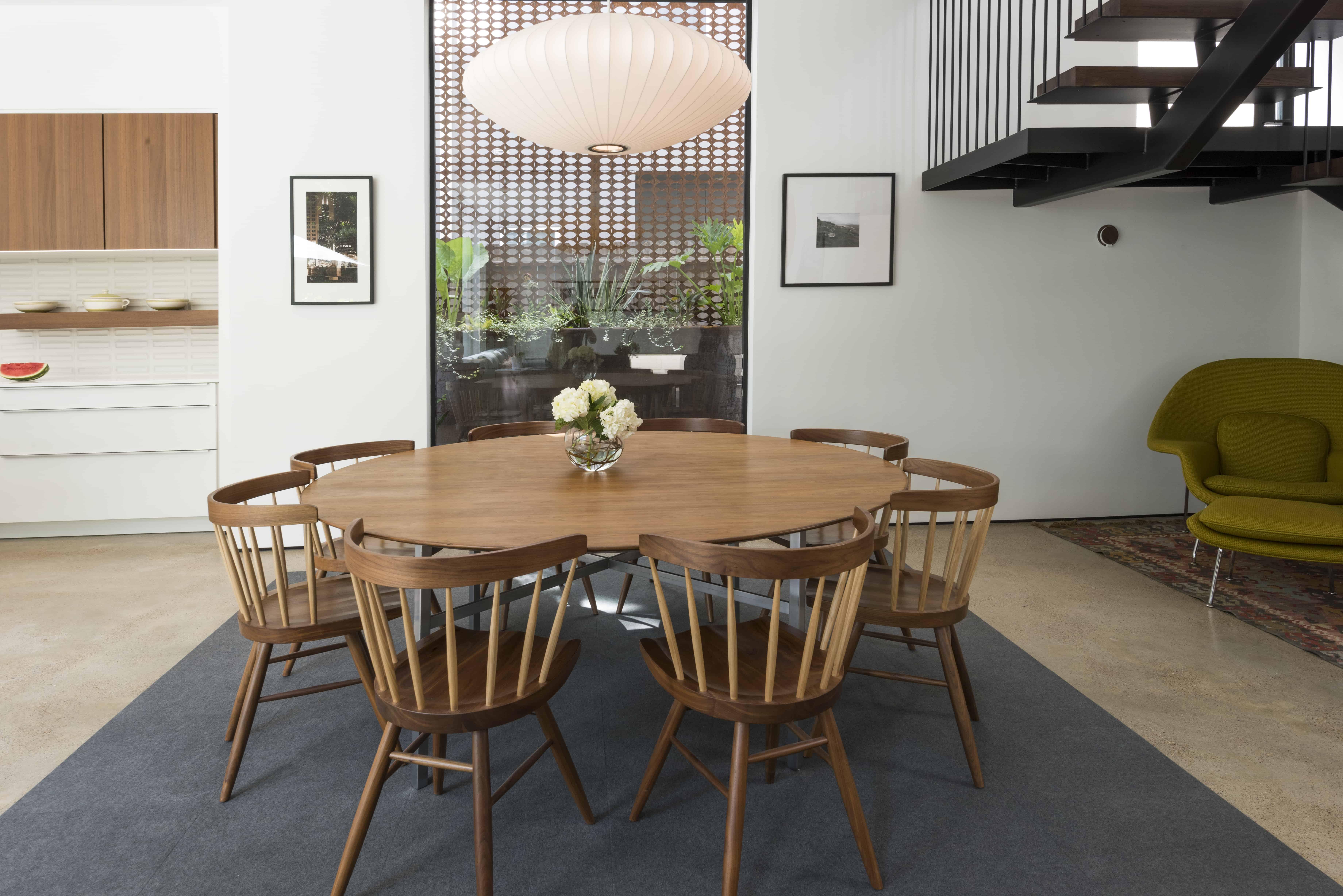 warm modern new mid century modern dining