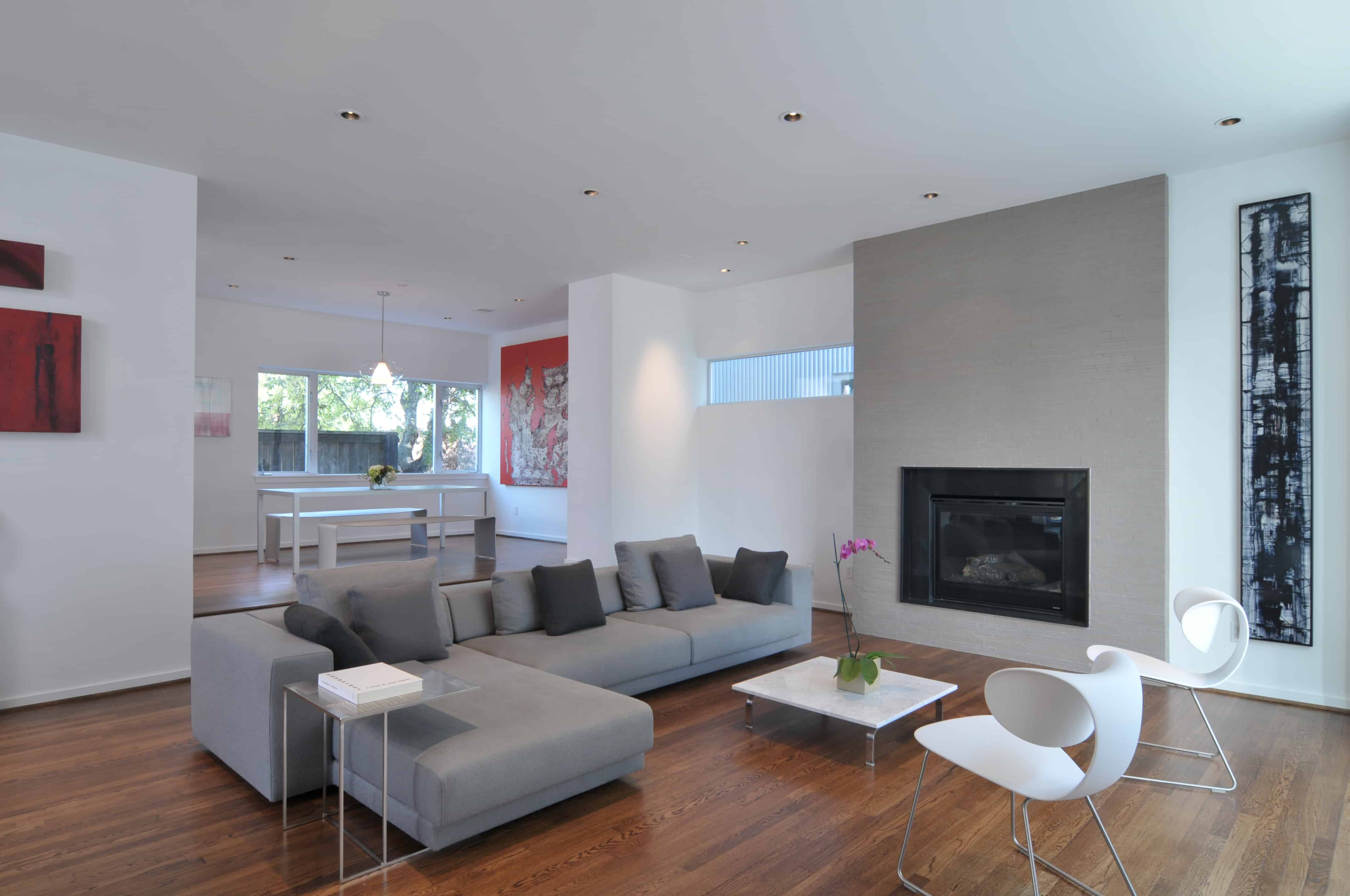 Southmore terrace sustainable houston modern home open living space.
