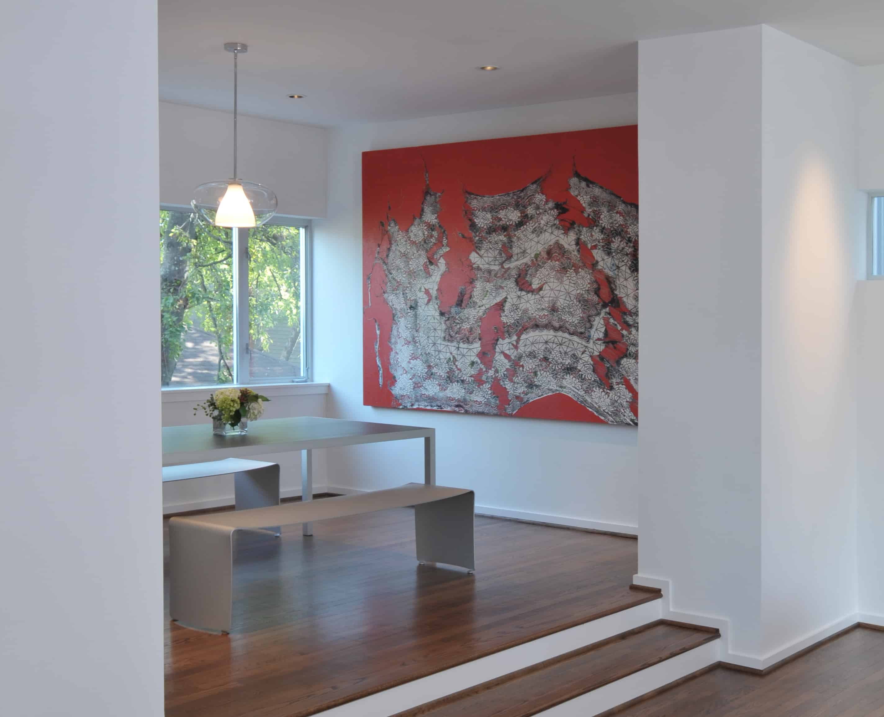 Southmore terrace sustainable houston modern home dining room.
