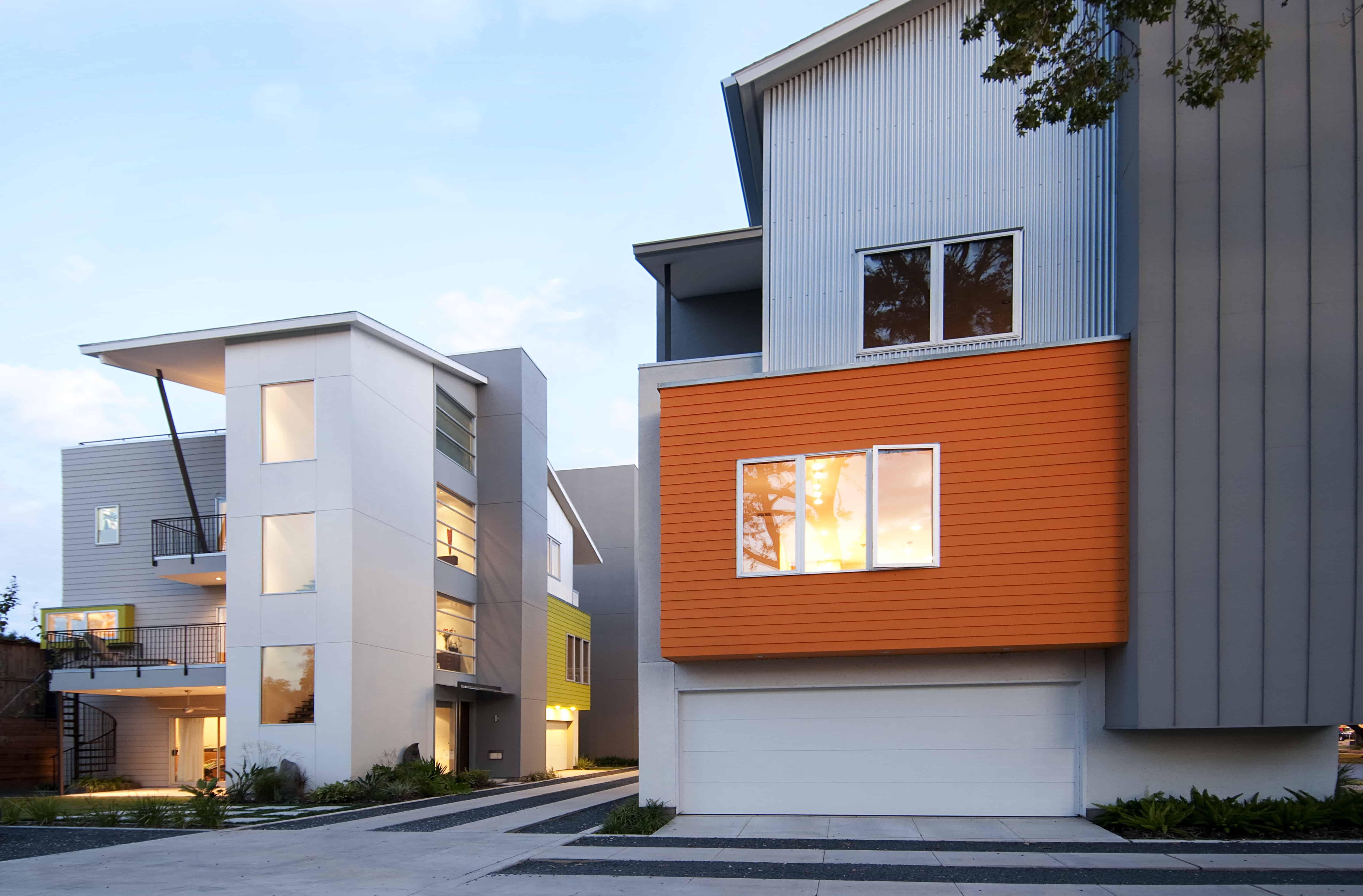 Southmore terrace sustainable house exterior facade.