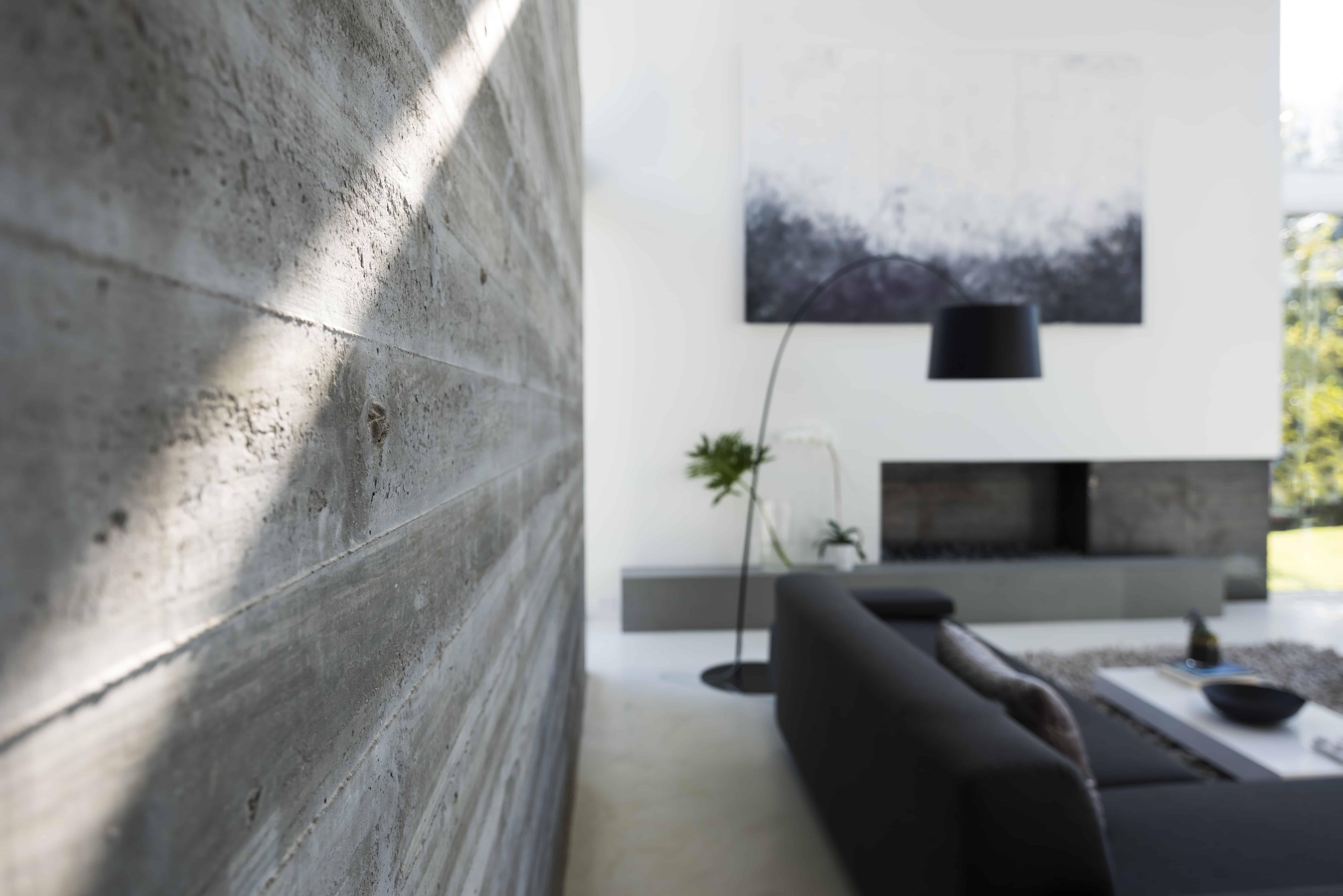 cast concrete wall detail