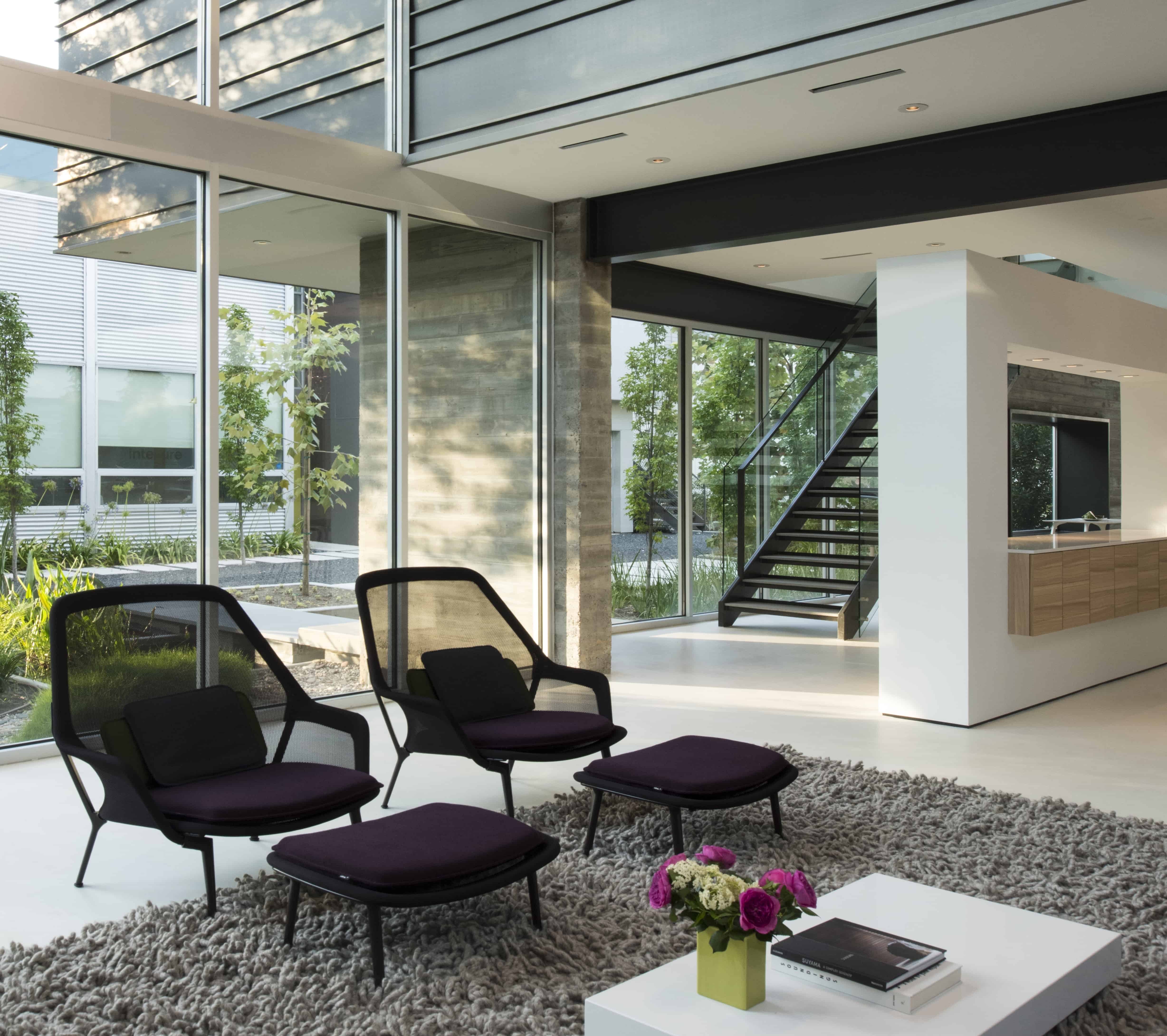 Modern Residential Living Room and Stair