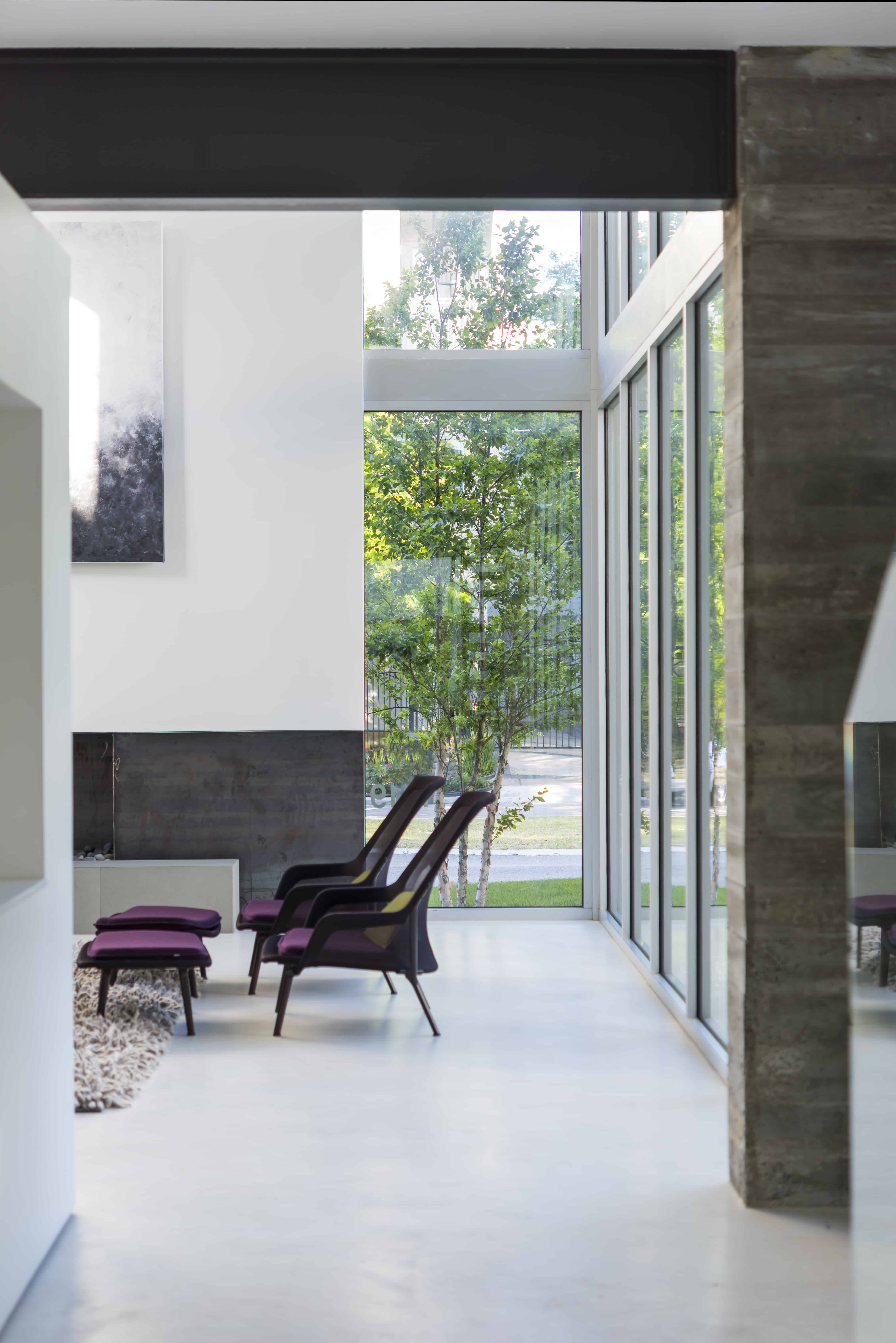 Modern Residential Home Concrete and Glass Living