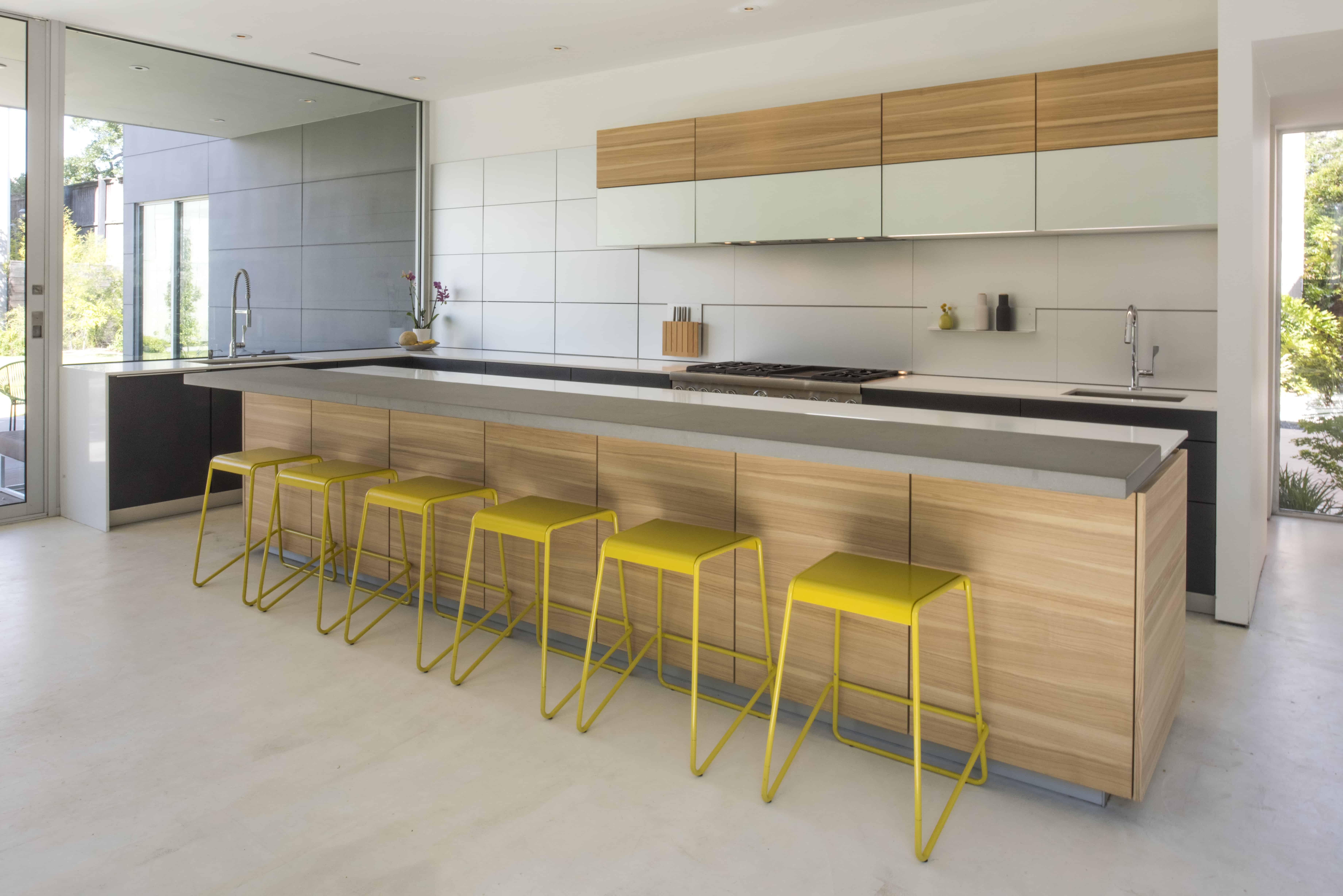 large window modern kitchen