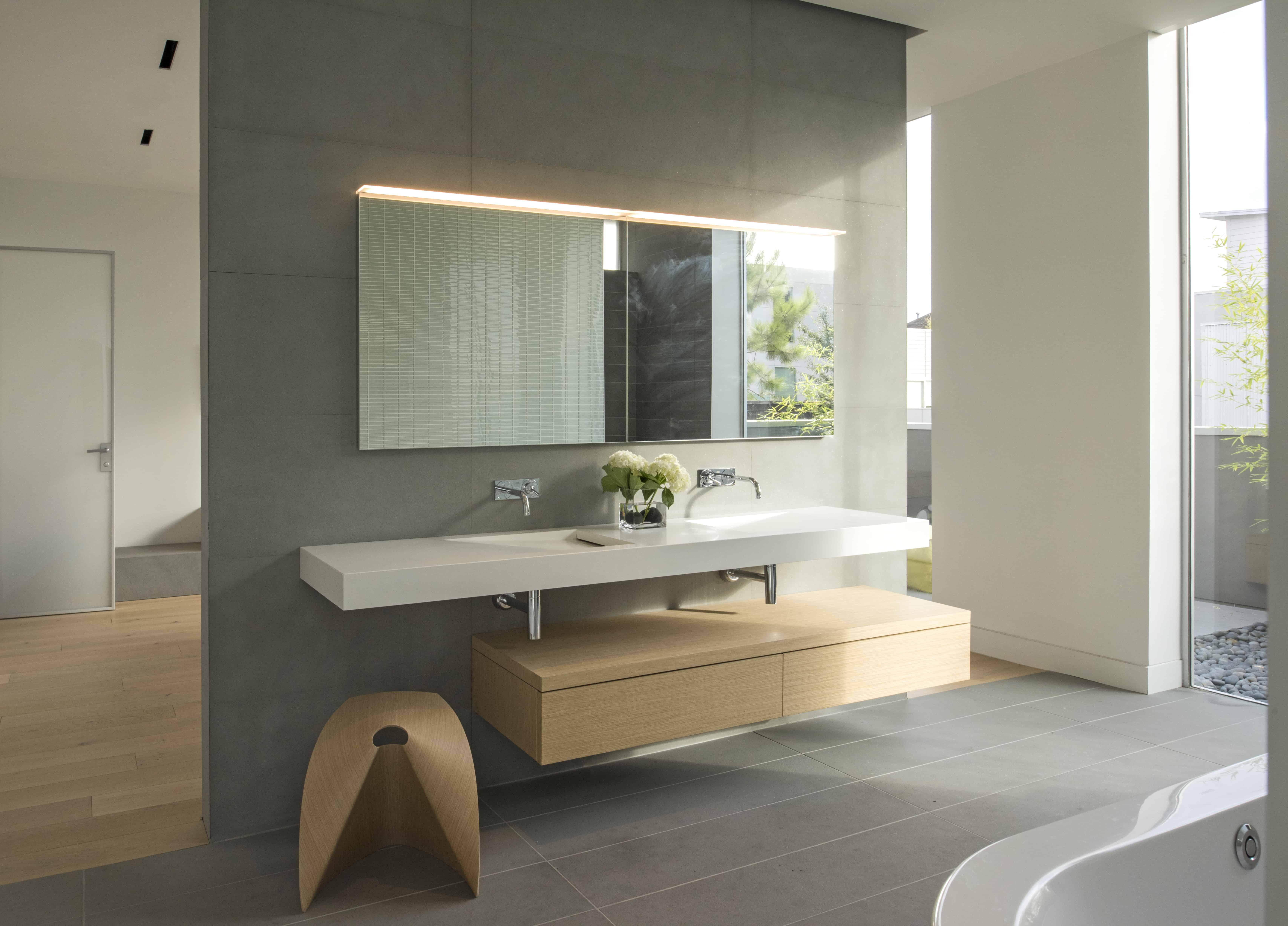 natural modern master bath
