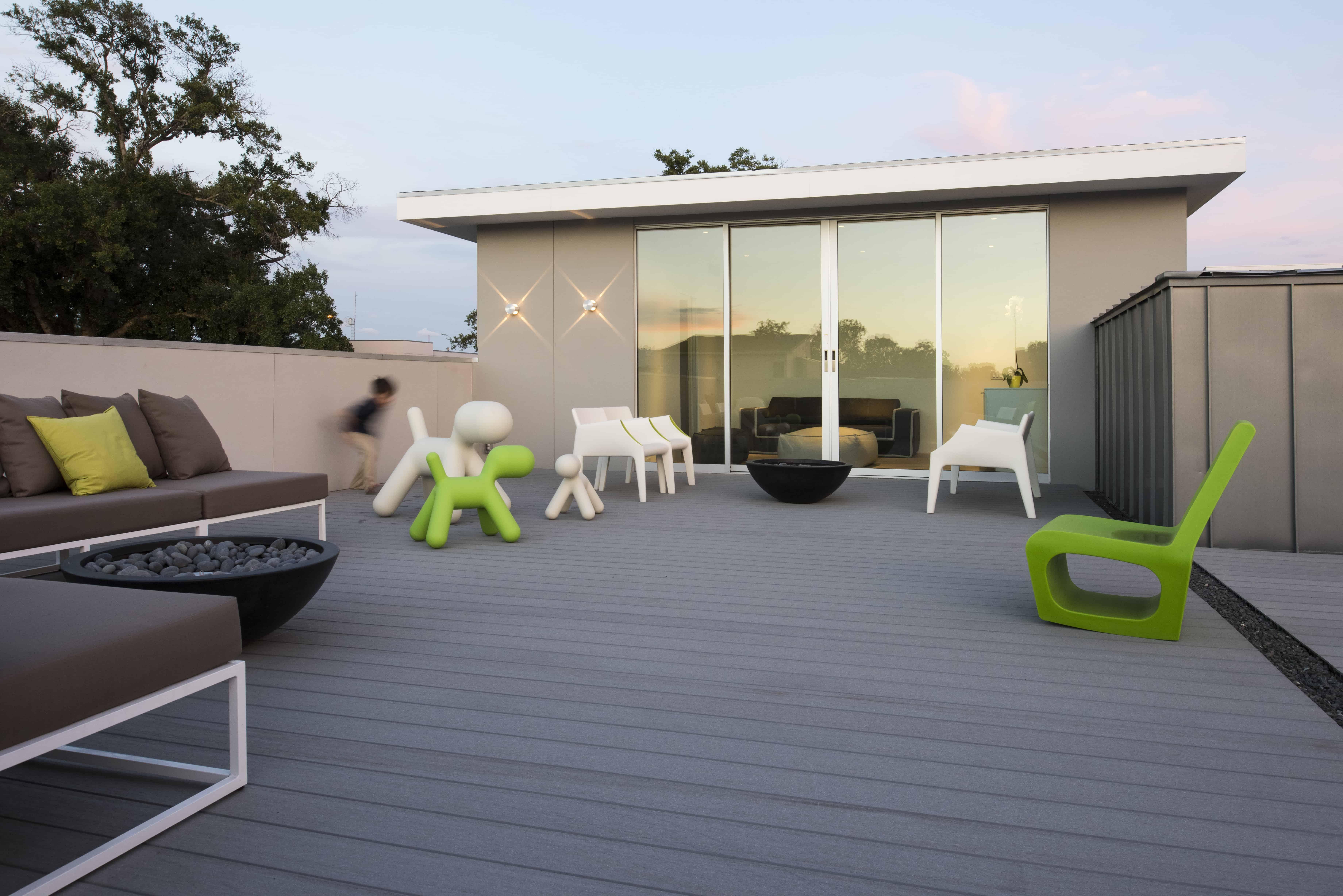 rooftop terrace glass room